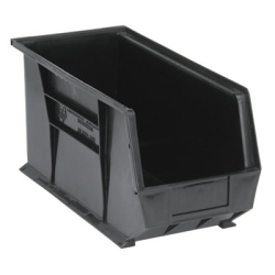 "Black Quantum® Ultra Series Stack & Hang Bin - 18"" L x 8-1/4"" W x 9"" Hgt."
