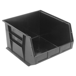"18""L x 16-1/2""W x 11""H Black Quantum® Ultra Series Stack & Hang Bin"