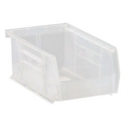 "7-3/8"" L x 4-1/8"" W x 3"" Hgt.  Quantum® Clear-View Ultra Series Stack & Hang Bin"