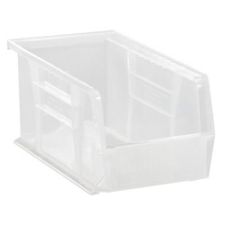 "10-7/8"" L x 5-1/2"" W x 5"" Hgt. Quantum® Clear-View Ultra Series Stack & Hang Bin"
