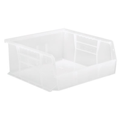 "10-7/8"" L x 11"" W x 5"" Hgt. Quantum® Clear-View Ultra Series Stack & Hang Bin"