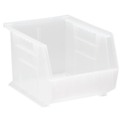"10-3/4"" L x 8-1/4"" W x 7"" Hgt. Quantum® Clear-View Ultra Series Stack & Hang Bin"