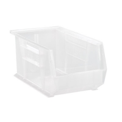 "14-3/4"" L x 8-1/4"" W x 7"" Hgt. Quantum® Clear-View Ultra Series Stack & Hang Bin"