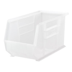 "18"" L x 8-1/4"" W x 9"" Hgt. Quantum® Clear-View Ultra Series Stack & Hang Bin"