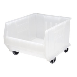 "23-7/8""L x 18-1/4""W x 12""H Clear-View Mobile HULK Bin"