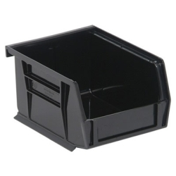 "5""L x 4-1/8""W x 3""H Black Quantum® Ultra Series Stack & Hang Bin"