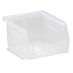 "5"" L x 4-1/8"" W x 3"" Hgt. Quantum® Clear-View Ultra Series Stack & Hang Bin"