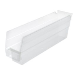 "11-5/8"" L x 2-3/4"" W x 4"" Hgt. OD Akro-Mils® Clear Storage Shelf Bin"