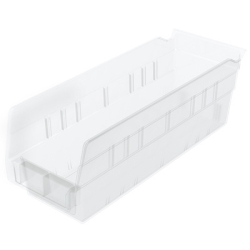 "11-5/8"" L x 4-1/8"" W x 4"" Hgt. OD Akro-Mils® Clear Storage Shelf Bin"