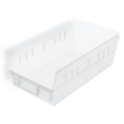 "6-5/8""W x 4""H x 11-5/8""L OD Akro-Mils® Clear Storage Shelf Bin"