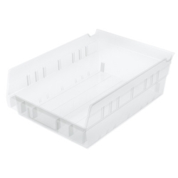 "8-3/8""W x 4""H x 11-5/8""L OD Akro-Mils® Clear Storage Shelf Bin"