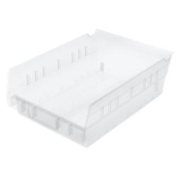 """11-5/8"""" L x 8-3/8"""" W x 4"""" Hgt. OD Akro-Mils® Clear Storage Shelf Bin"""