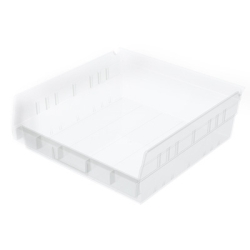 "11-1/8""W x 4""H x 11-5/8""L OD Akro-Mils® Clear Storage Shelf Bin"