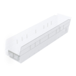 "4-1/8""W x 4""H x 17-7/8""L OD Akro-Mils® Clear Storage Shelf Bin"