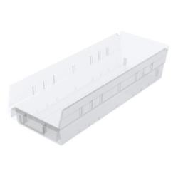 """17-7/8"""" L x 6-5/8"""" W x 4"""" Hgt. OD Akro-Mils® Clear Storage Shelf Bin"""