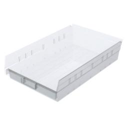 """17-7/8"""" L x 11-1/8"""" W x 4"""" Hgt. OD Akro-Mils® Clear Storage Shelf Bin"""