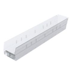 """23-5/8"""" L x 4-1/8"""" W x 4"""" Hgt. OD Akro-Mils® Clear Storage Shelf Bin"""