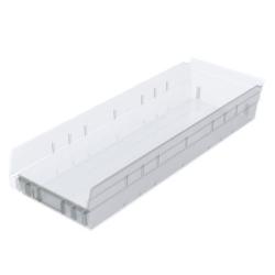 """23-5/8"""" L x 8-3/8"""" W x 4"""" Hgt. OD Akro-Mils® Clear Storage Shelf Bin"""