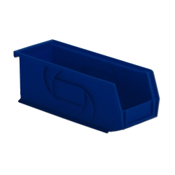 "10-7/8"" L x 4-1/8"" W x 4"" Hgt. Blue Hang & Stack Bin"