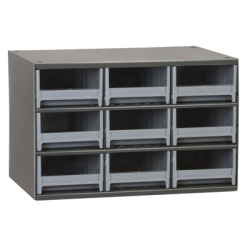 "Akro-Mils® Steel Frame Parts Cabinet with 9 Drawers - 10-9/16"" L x 5-3/16"" W x 3-1/6"" Hgt."