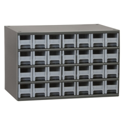 "Akro-Mils® Steel Frame Parts Cabinet with 28 Drawers - 2-3/16"" W x 2-1/16"" H x 10-9/16"" D"
