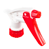 """28/400 Red & White Spray Head with 7-1/4"""" Dip Tube (Bottle Sold Separately)"""
