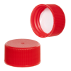 24/414 Red Polypropylene Ribbed Cap with F217 Liner