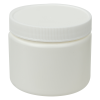 6 oz. White HDPE Wide Mouth Jar with 70/400 Cap