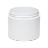 4 oz. Straight Sided Double Wall White Jar with 70/400 Neck (Cap Sold Separately)