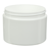 8 oz. Straight Sided Double Wall White Jar with 89/400 Neck (Cap Sold Separately)