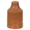 13/415 Brown CRC/TE Cap for 10mL and Larger E-Liquid Bottles