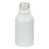 15mL Shiny White E-Liquid Boston Round Glass Bottle with 18/415 Neck (Cap Sold Separately)
