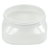 4 oz. White PET Firenze Square Jar with 70/400 Neck (Cap Sold Separately)