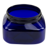 8 oz. Cobalt Blue PET Firenze Square Jar with 70/400 Neck (Cap Sold Separately)