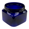 16 oz. Cobalt Blue PET Firenze Square Jar with 89/400 Neck (Cap Sold Separately)