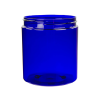 19 oz. Cobalt Blue PET Straight Sided Jar with 89/400 Neck (Cap Sold Separately)