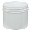 2 oz. Polypropylene Straight Sided White Jar with 53/400 Neck (Cap Sold Separately)
