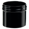2 oz. Black Polypropylene Thick Wall Straight Sided Jar with 53/400 Neck (Cap Sold Separately)