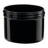 8 oz. Black Polypropylene Straight Sided Jar with 89/400 Neck (Cap Sold Separately)