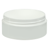 2 oz. Polypropylene Straight Sided Thick Walled White Jar with 70/400 Neck (Cap Sold Separately)