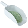 "White Polystyrene Scoop 5.5"" x 9"" x 3.5"" with No Label"