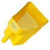 "Yellow Sifting Scoop with 1/4"" Holes"