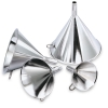 "6-3/8 oz Stainless Steel Funnel - 4-1/8"" Top Dia. x 4-3/8""H"