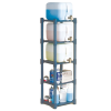 Plastic Dispensing Rack with 5 Shelves
