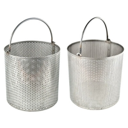 "12"" x 12"" Stainless Steel Dipping Basket 3/32"" Holes on 3/16"" Centers"