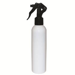 8 oz. White Bullet Spray Bottle with Black Micro Sprayer
