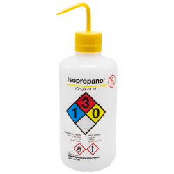 32 oz./1000mL Isopropanol Nalgene™ Right-To-Know Safety Wash Bottle with Yellow 38mm Spout Cap