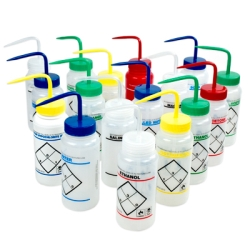 Wide Mouth Labeled Wash Bottles