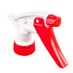 "28/400 Red & White Spray Head with 7-1/4"" Dip Tube (Bottle Sold Separately)"