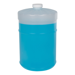1 Gallon Flat Top Container with Plain White Cap  (Pump Sold Separately)